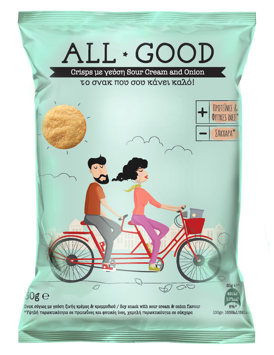 POWER HEALTH ALL GOOD CRISPS ONION & SOUR CREAM 30gr