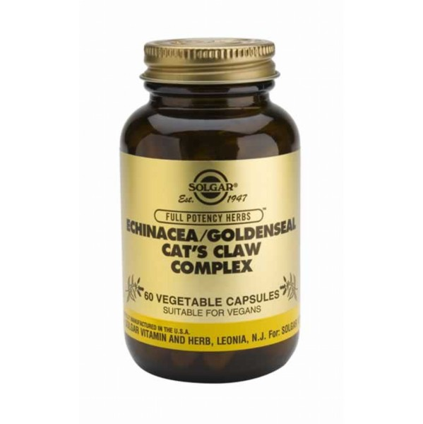 SOLGAR ECHINACEA GOLDENSEAL CATS CLAW 60VC