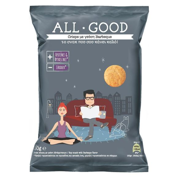 Power Health All Good High Protein Crisps Sour Barbeque 30gr