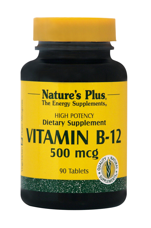 NATURES PLUS Vitamin B-12 500 MCG 90tabs