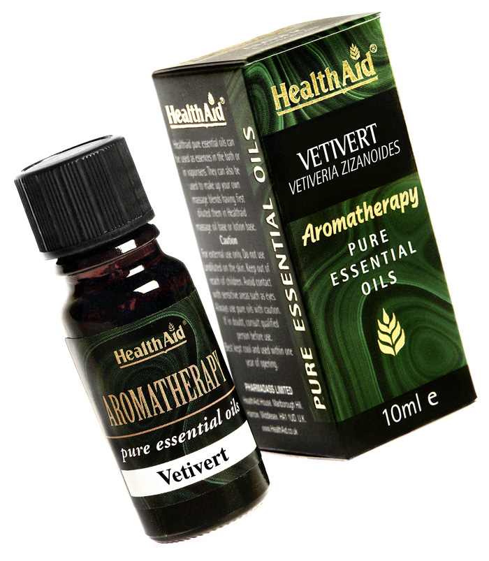 Health Aid Aromatherapy Vetiver Oil (Vetivera zizanoides) 10ml