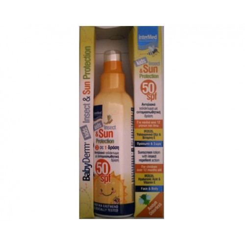 INTERMED BABYDERM KIDS INSECT & SUN PROTECTION 50SPF 200ML