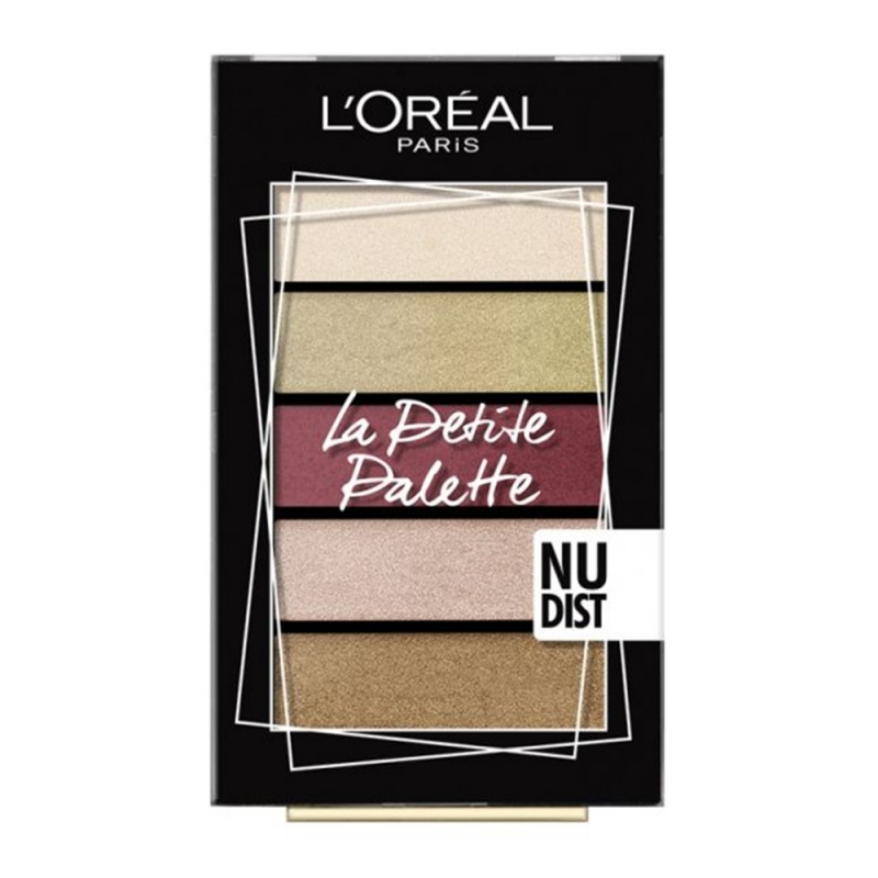 LOreal Paris La Petite Palette Mini Eyeshadow 02 Nudist 5x0,80g