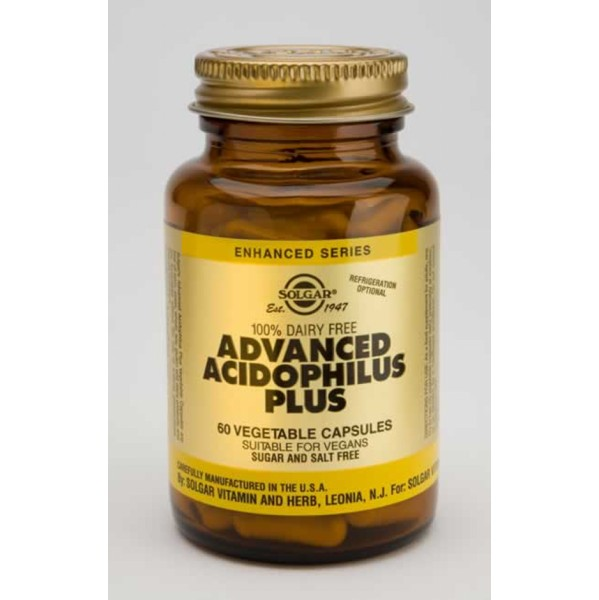 SOLGAR ADVANCED ACIDOPHILUS PLUS 60VCAP