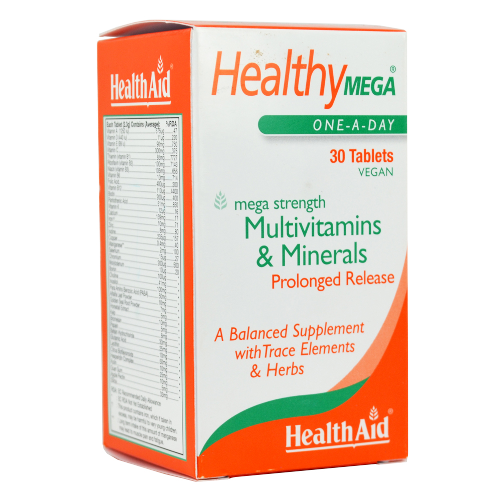 HEALTH AID HEALTHY MEGA™ MULTIVITAMIN AND MINERAL PROLONGED RELEASE TABLETS 30S