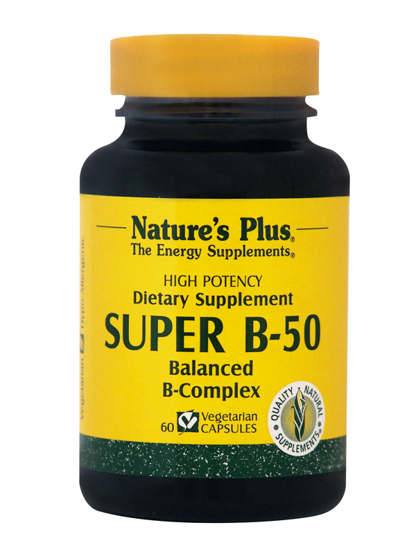NATURES PLUS Vitamin Super B 50 60vcaps
