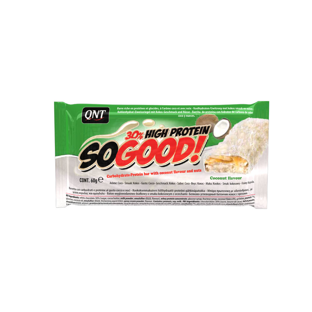 QNT SoGood Bar With Coconut Flavour and Nuts 60gr