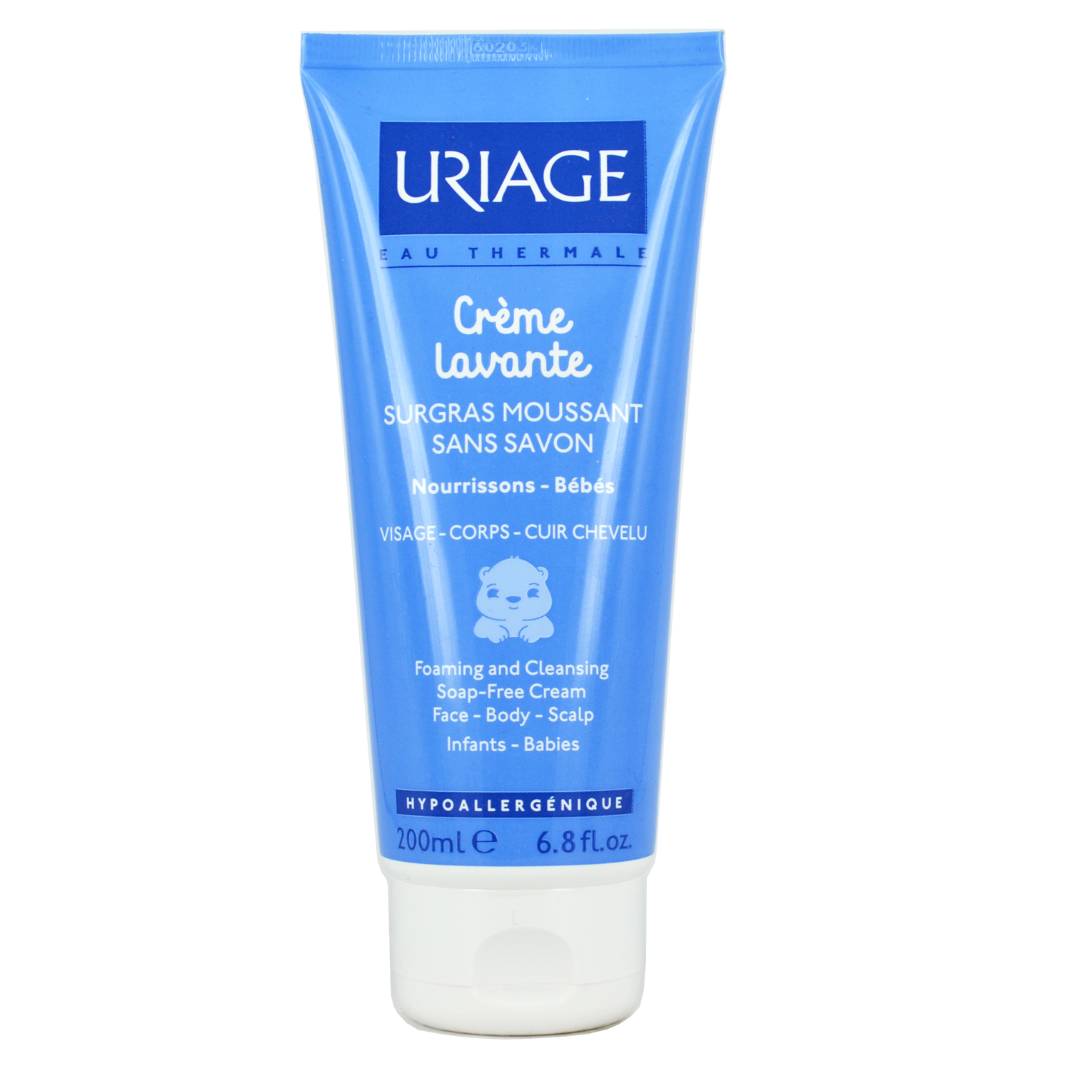 Uriage Creme Lavante Foaming and Cleansing Soap Free Cream 200ml
