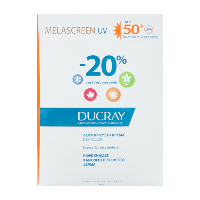 Ducray Melascreen UV Light Cream Normal To Combination Skin SPF50+ 2x40ml -20%