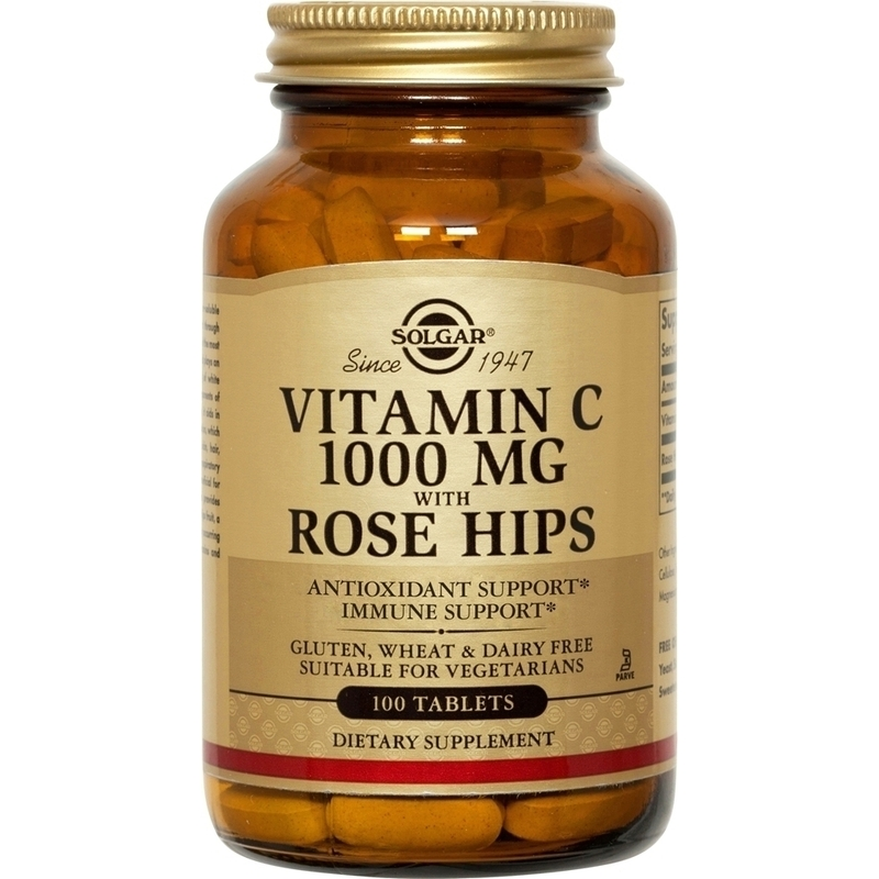 SOLGAR ROSE HIPS C 1000MG 100TAB