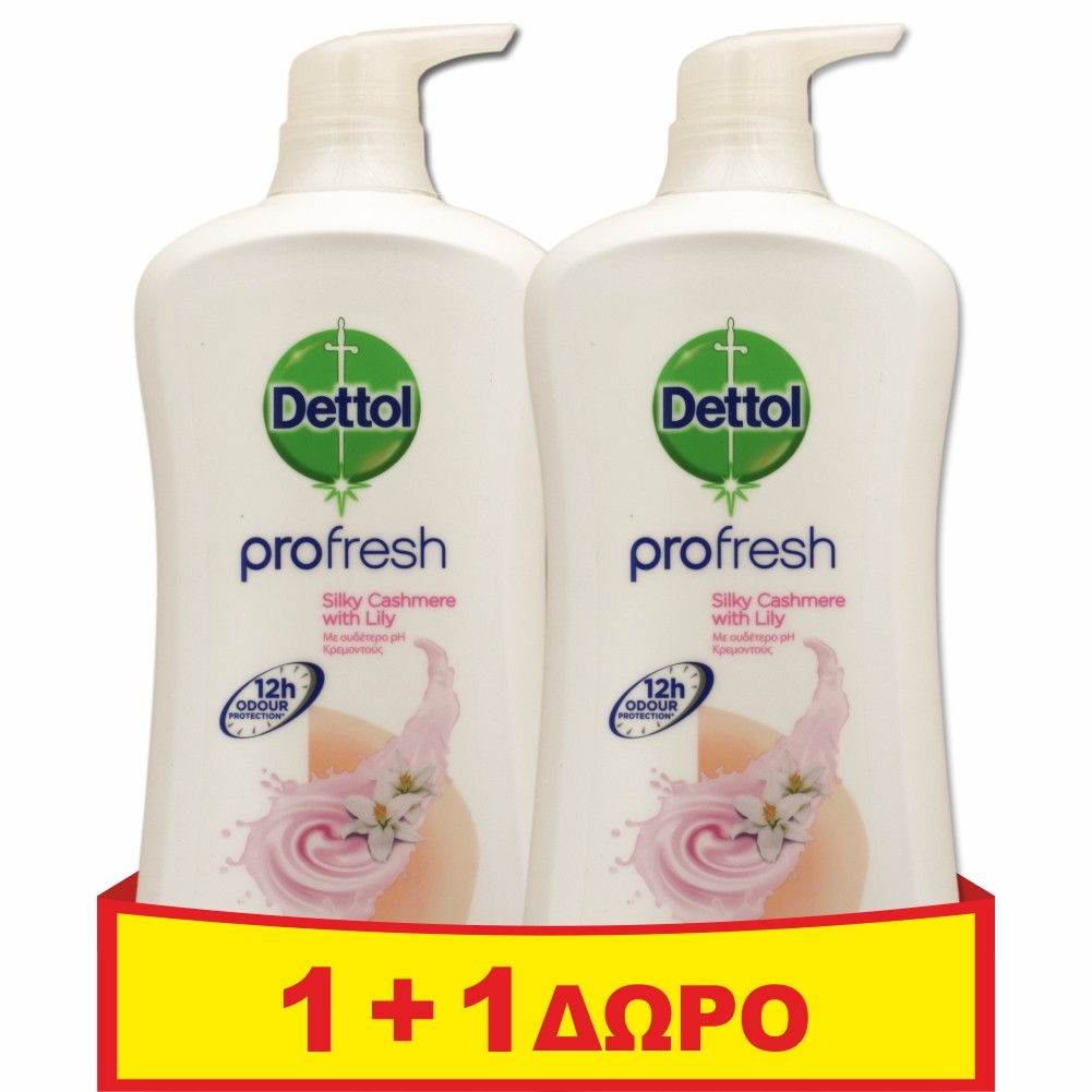 Dettol Profresh Silky Cashmere with Lily 950ml 1+1 ΔΩΡΟ