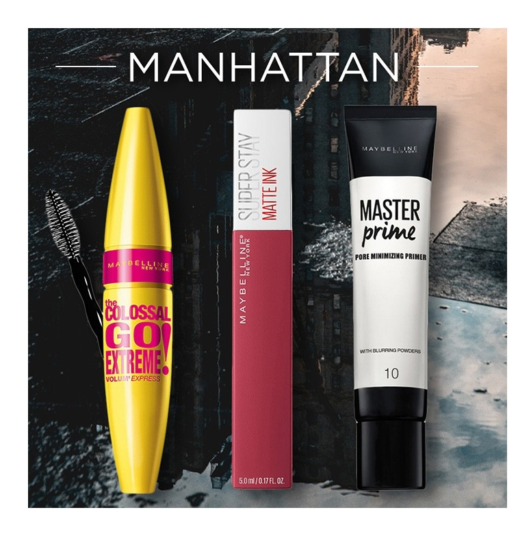 Maybelline Set Super Stay Matte Ink 80 Ruler Κραγιον 5ml + Colossal Go Extreme Black Mascara 9,5ml + Master Prime 10 Pore Minimizer 30ml