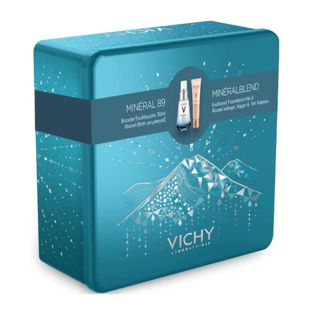 Vichy Promo Box Mineral 89 Booster Ενυδάτωσης 30ml + Vichy Mineral Blend Make-Up Fluid 06 Dune 30ml