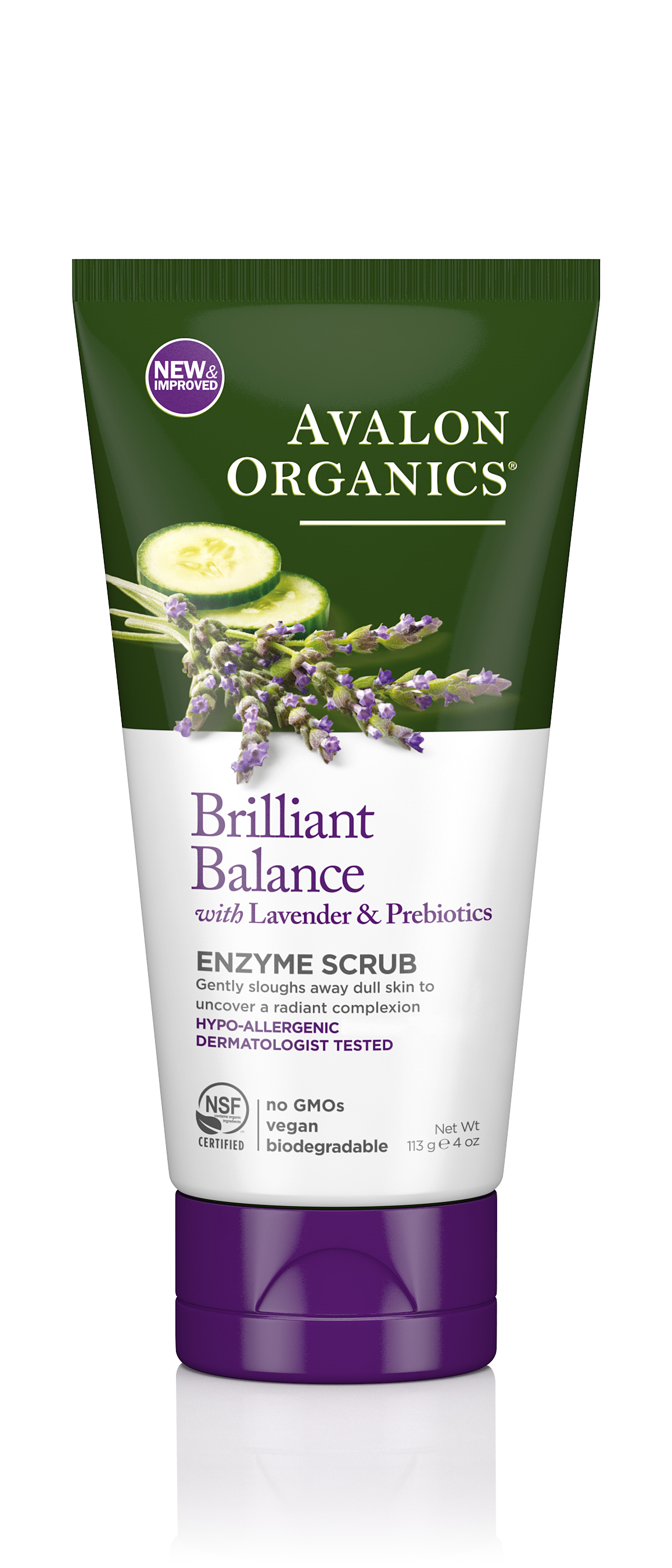 Avalon Organics Enzyme Scrub With Lavender & Probiotics 100ml