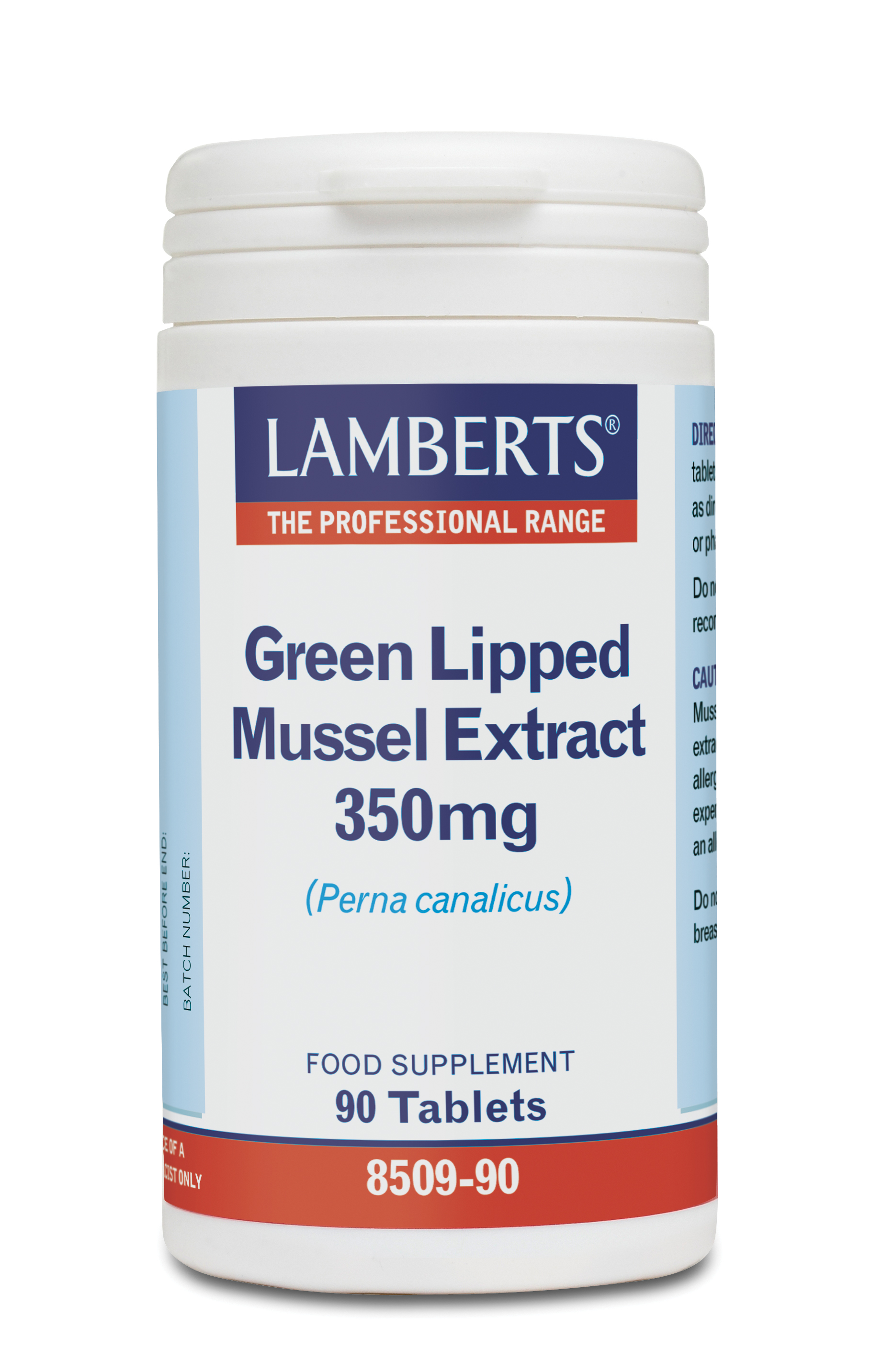 LAMBERTS GREEN LIPPED MUSSEL 350MG 90TABS