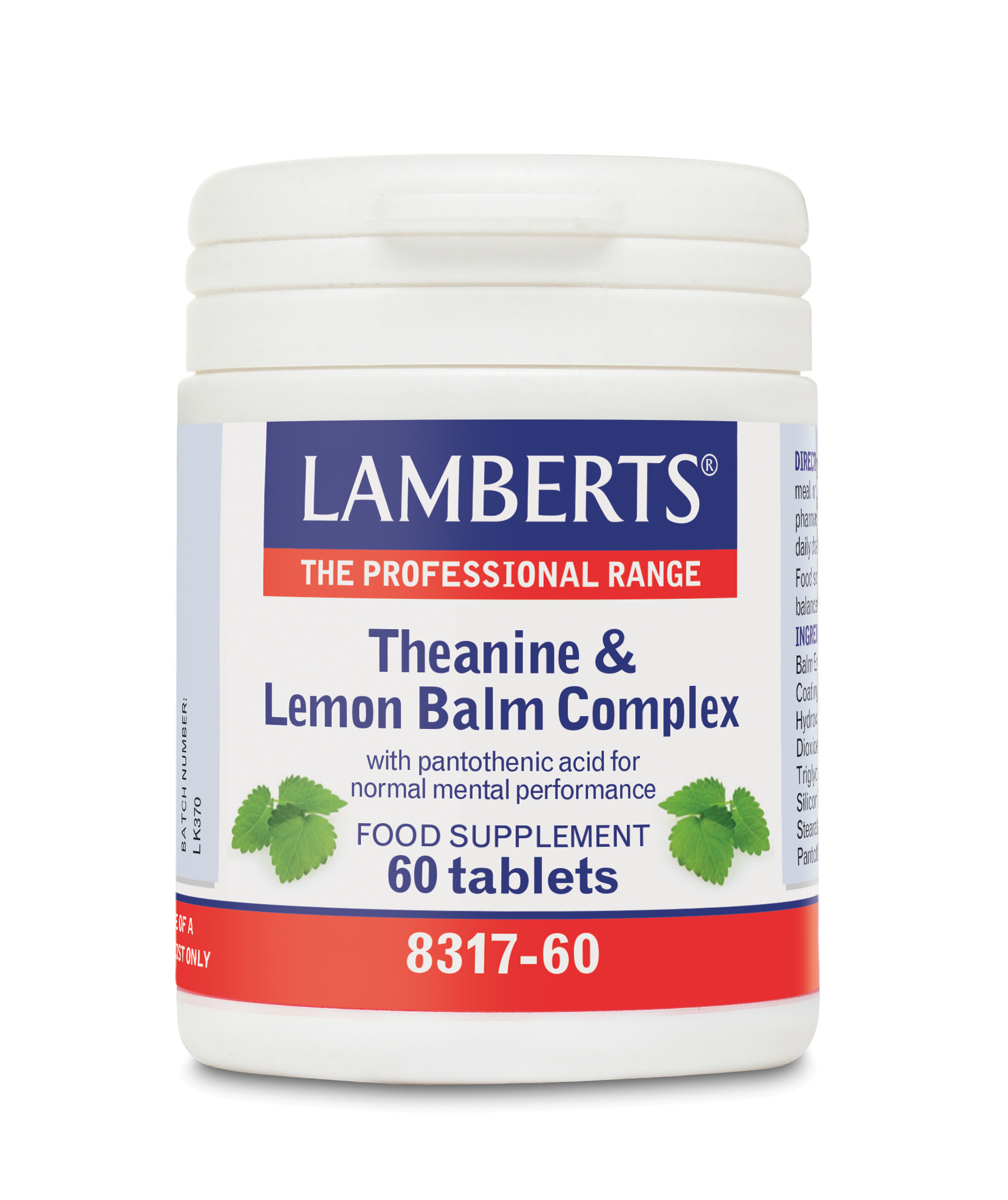 Lamberts Theanine & Lemon Balm Complex 60tbs