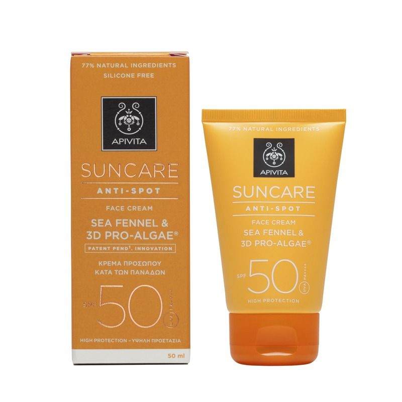 Apivita Suncare Anti-Spot Face Cream Κατά των Πανάδων SPF50 με Sea Fennel & 3D PRO-ALGAE® 50ml