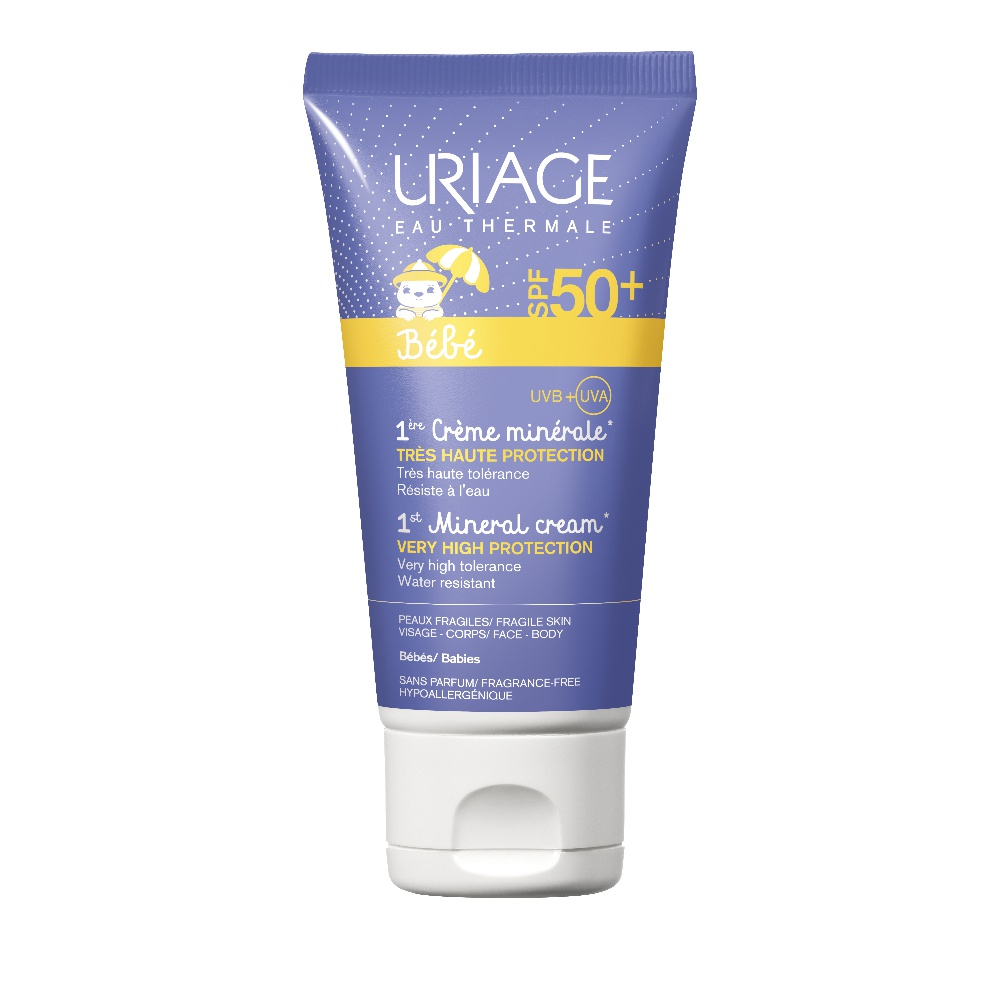 Uriage Παιδικό Αντηλιακό Babe 1st Mineral Cream SPF50+ 50ml