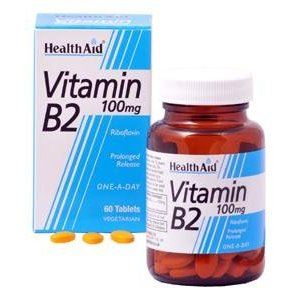 HEALTH AID VITAMIN B2 (RIBOFLAVIN) 100mg TABLETS 60s