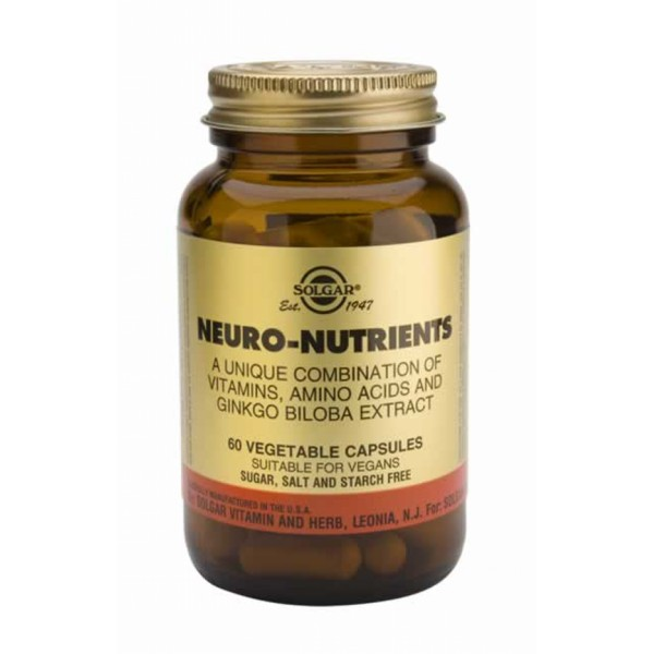 SOLGAR NEURO NUTRIENTS 60VCAP