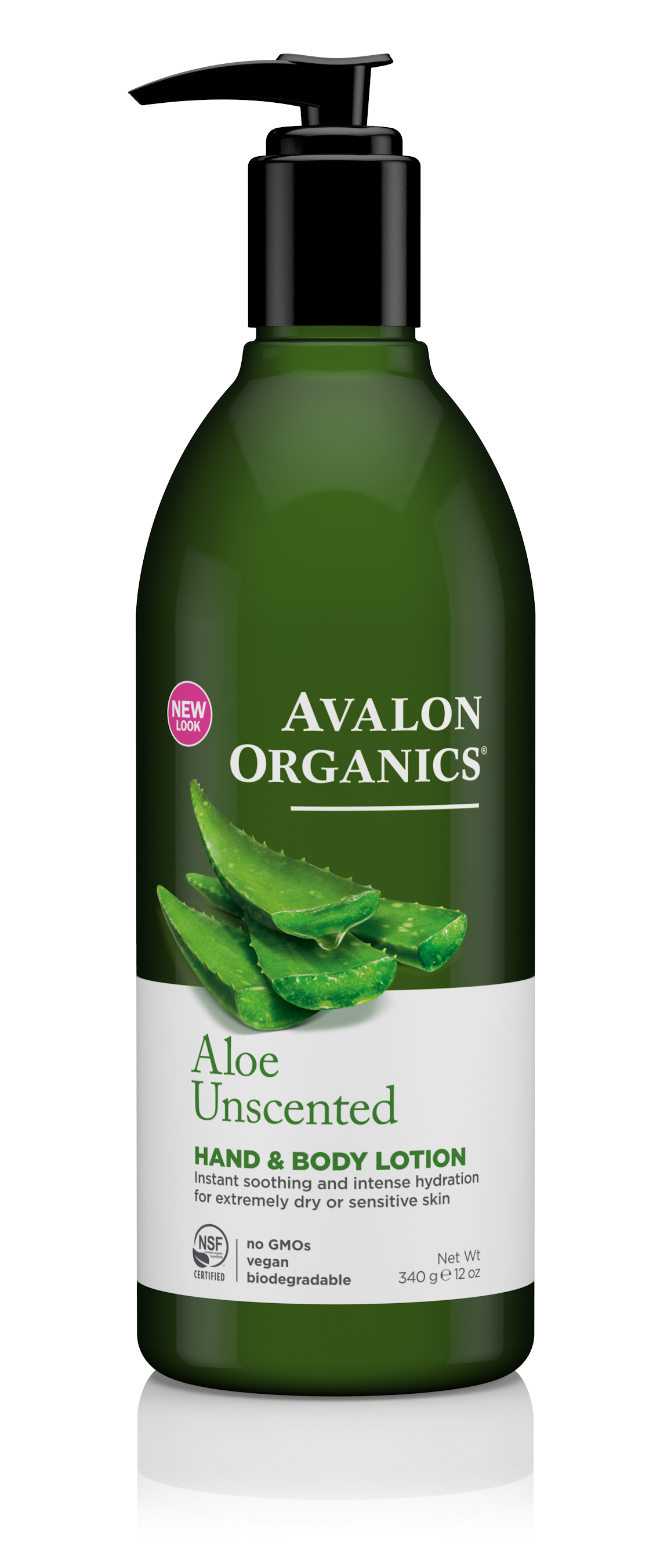 Avalon Organics Aloe Unscented Hand and Body Lotion 340g