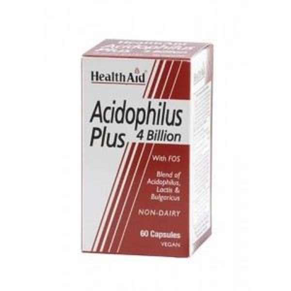 HEALTH AID ACIDOPHILUS PLUS 4 BILLION VEGETARIAN CAPSULES 60S