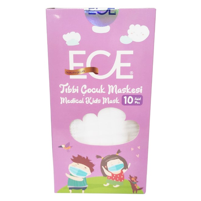 Ece Medical Kids Mask Λευκή 10τμχ