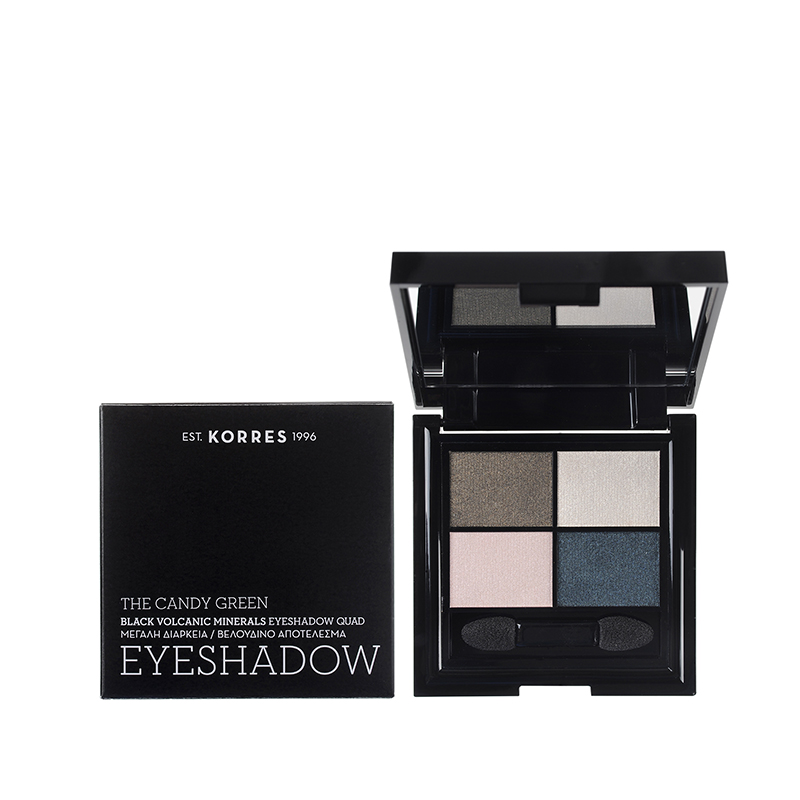 Korres Black Volcanic Minerals Eyeshadow Quad -The Candy Green 5g