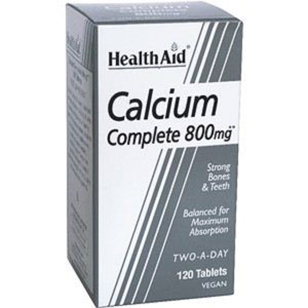 HEALTH AID BALANCED CALCIUM COMPLETE 800MG TABLETS 120S