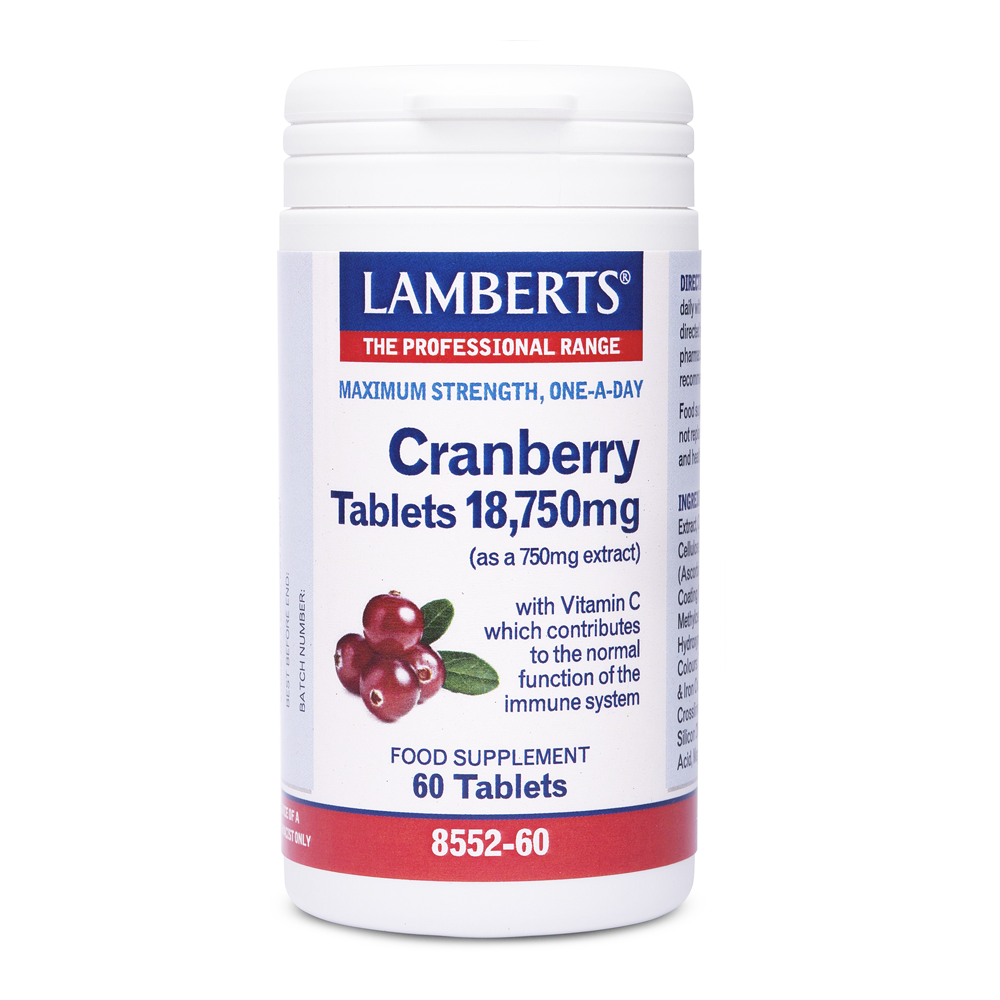 LAMBERTS CRANBERRY 18,750mg (as a 750mg extract) 60TABS
