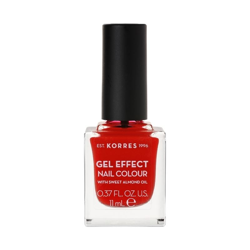 Korres Βερνίκι Νυχιών Gel Effect Nail Colour No.48 Coral Red 11ml