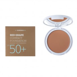 Korres Red Grape Compact Foundation SPF50+ Αντηλιακό Make Up σε μορφή compact με κόκκινο σταφύλι κατά της πρόωρης γήρανσης, Απόχρωση 2 Μεσαία, 8gr