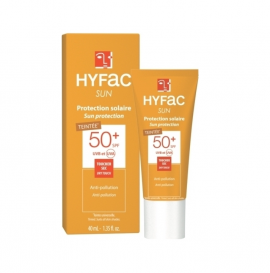 Hyfac Sun Protection Spf50+ Teintee Dry Touch Anti-Pollution 40ml
