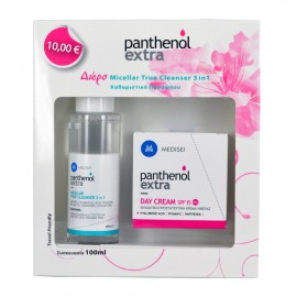 Medisei PANTHENOL EXTRA DAY CREAM SPF15 50ML+ ΔΩΡΟ MICELLAR TRUE CLEANSER 3IN1 100ML