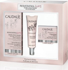 CAUDALIE PROMO PACK RESVERATROL LIFT Baume Liftant Regard 15ml + ΔΩΡΟ RESVERATROL Serum Fermete 10ml + ΔΩΡΟ RESVERATROL Creme Cachemire Redensifiante 15ml