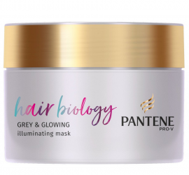 Pantene Pro-v Hair Biology Grey & Glowing Illuminating Mask 160ml