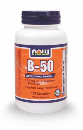 Now Foods Vitamin B-50 100 Veget.caps