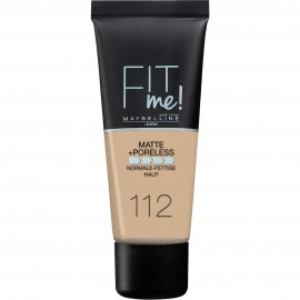 Maybelline Fit Me Matte & Poreless Liquid Foundation For Normal To Oily Skin 112 Soft Beige 30ml