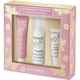 Caudalie Set Vinosource Les Indispensables Hydratation Moisturizing Sorbet 40ml + Instant Foaming Cleanser 50ml + S.O.S. Thirst Quenching Serum 10ml