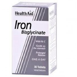 HEALTH AID IRON BISGLYCINATE (IRON WITH VITAMIN C) TABLETS 30S