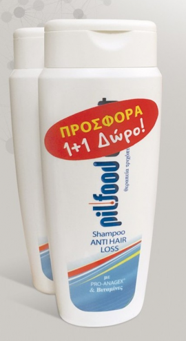 Pilfood Direct Shampoo Anti Hair Loss 200ml 1+1 Δώρο