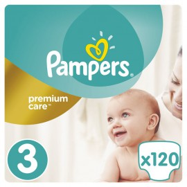 Pampers Premium Care No.3 (5-9kg) 120 Πάνες