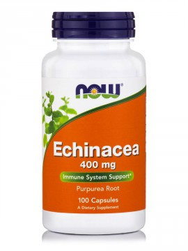 Now Foods Echinacea (Purpurea Root) 400mg. 100 Veg.Caps.