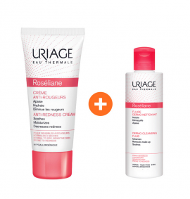 Uriage Roseliane Creme Anti-Rougeurs 40ml & ΔΩΡΟ Roseliane Fluide Dermo-Nettoyant 100ml