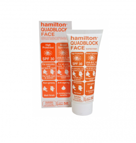Hamilton Quadblock Face Sunscreen SPF30 50gr