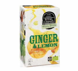 Am Health Royal Green Herbal Infusion Ginger & Lemon 16 φακελάκια