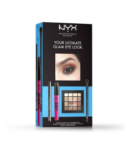 NYX PM Set Your Ultimate Glam Eye Look on The Rise Liftascara 10ml & Epic Ink Liner 1.0ml & Pro Brush Allver Shadow & Ultimate Shadow Palette 16x0.93g