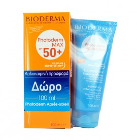 BIODERMA PHOTODERM MAX LAIT SPF50+ 100ML + AFTER SUN 100ML FREE