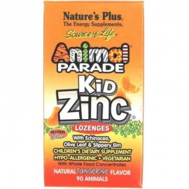 Natures Plus ANIMAL PARADE KIDZINC LOZENGES 8MG, 90CAPS