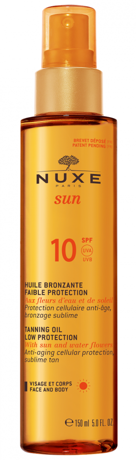Nuxe Tanning Oil Low Protection SPF10 Λάδι Μαυρίσματος για Πρόσωπο & Σώμα 150ml